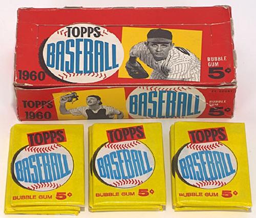1960 Topps Baseball Box Pack Wrapper