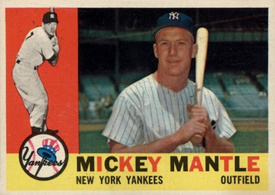 Top 10 Vintage Baseball Card Singles of 1960 10