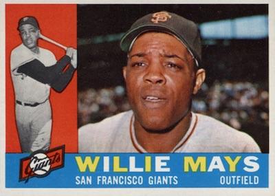 1960 Topps Baseball Willie Mays
