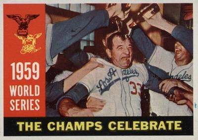 1960 Topps Baseball World Series Champs Celebrate