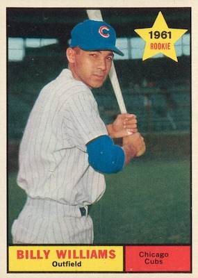 1961 Topps Baseball Billy Williams RC
