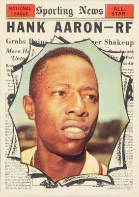 1961 Topps Baseball Hank Aaron All-Star