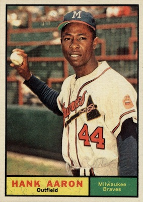 1961 Topps Baseball Hank Aaron