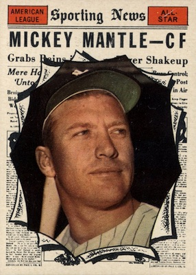 1961 Topps Baseball Mickey Mantle All-Star