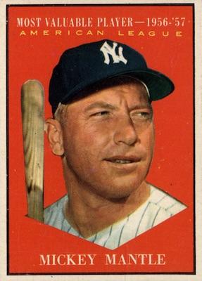 1961 Topps Baseball Mickey Mantle MVP