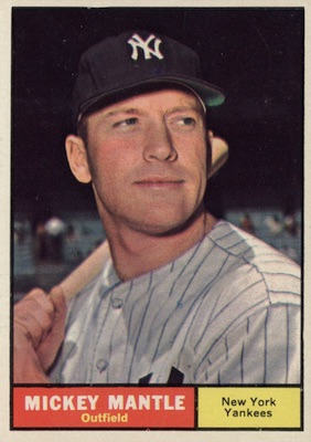 1961 Topps Baseball Mickey Mantle