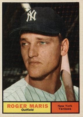 1961 Topps Baseball Roger Maris