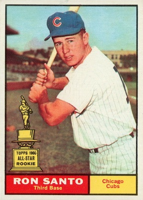 1961 Topps Baseball Ron Santo RC