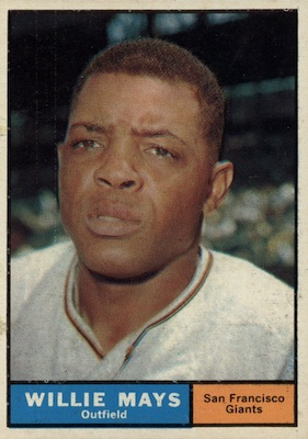 1961 Topps Baseball Willie Mays