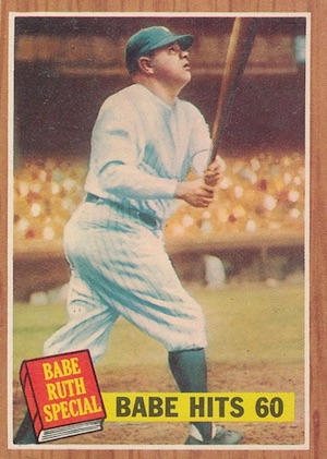 1962 Topps Baseball Babe Ruth Hits 60