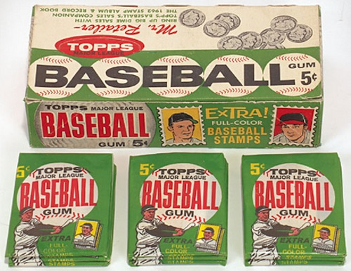 1962 Topps Baseball Box Pack