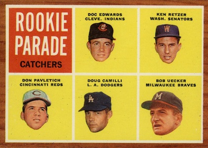 1962 Topps Baseball Rookie Parade Catchers