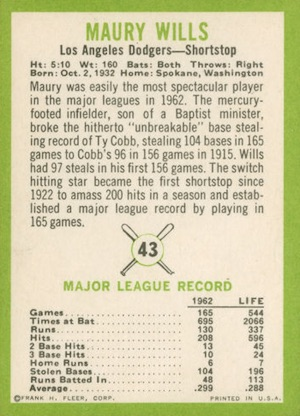 1963 Fleer Baseball Cards 3