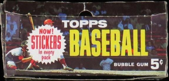 1963 Topps Baseball Box