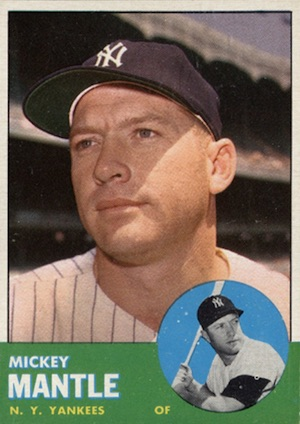 1963 Topps Baseball Mickey Mantle