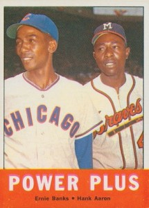 1963 Topps Baseball Power Plus Banks Aaron