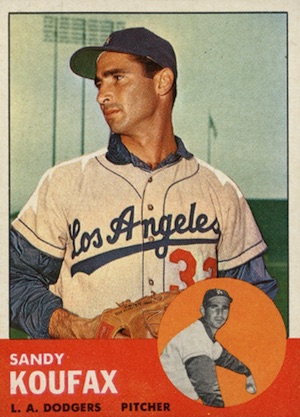 1963 Topps Baseball Sandy Koufax