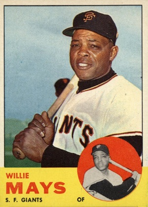 1963 Topps Baseball Willie Mays