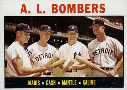 1964 Topps Baseball AL Bombers Maris Mantle