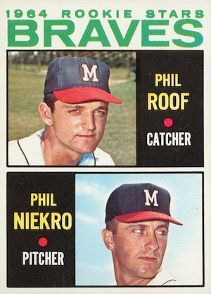 1964 Topps Baseball Phil Niekro RC