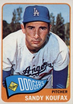 1965 Topps Baseball Koufax