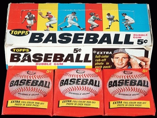 1966 Topps Baseball Box Packs