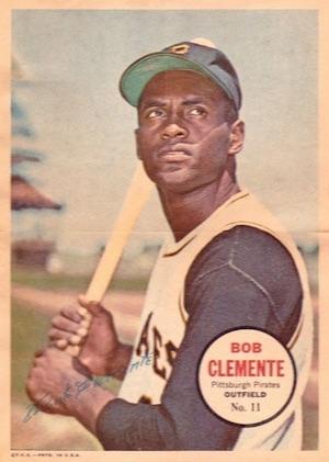1967 Topps Baseball Pin-Ups Poster Clemente