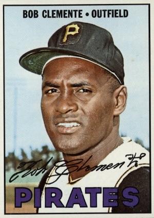 1967 Topps Baseball Roberto Clemente