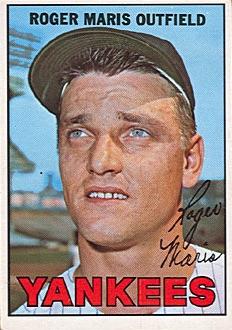 1967 Topps Baseball Roger Maris Yankees Proof