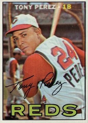 1967 Topps Baseball Tony Perez
