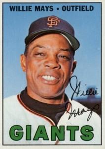 1967 Topps Baseball Willie Mays