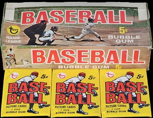 1968 Topps Baseball Box Wrapper