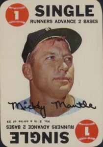 1968 Topps Baseball Game Insert Mickey Mantle
