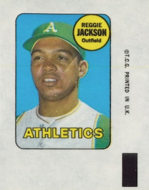 1969 Topps Baseball Decals Reggie Jackson