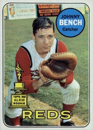 1969 Topps Baseball Johnny Bench