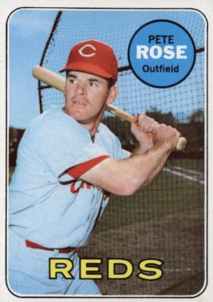 1969 Topps Baseball Pete Rose