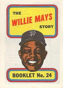 1970 Topps Baseball Booklets Willie Mays