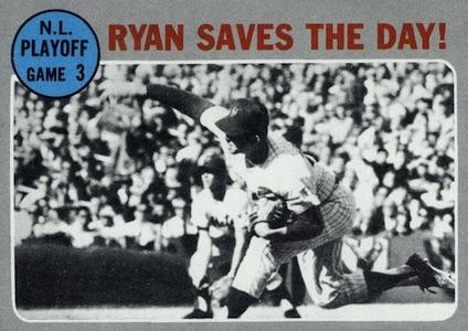 1970 Topps Baseball NL Playoff Ryan Saves the Day