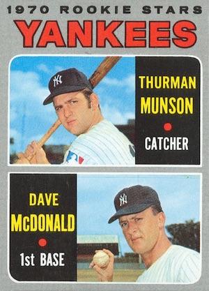 1970 Topps Baseball Thurman Munson RC
