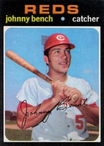 1971 Topps Baseball Johnny Bench