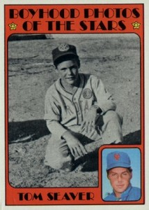 1972 Topps Baseball Boyhood Photos Tom Seaver
