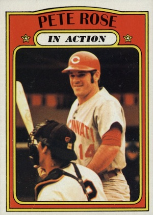 1972 Topps Baseball Pete Rose In Action