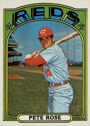 1972 Topps Baseball Pete Rose