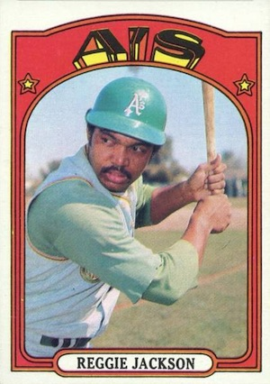 1972 Topps Baseball Reggie Jackson