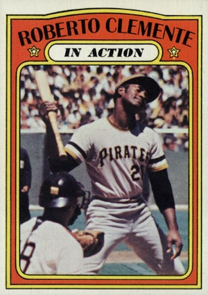 1972 Topps Baseball Roberto Clemente In Action