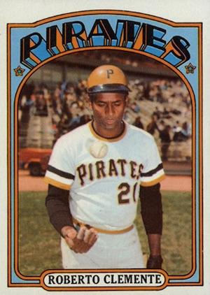 1972 Topps Baseball Roberto Clemente
