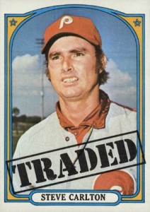 1972 Topps Baseball Traded Steve Carlton
