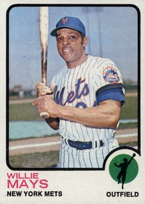 1973 Topps Baseball Willie Mays
