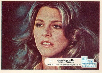 1976 Donruss Bionic Woman Trading Cards 1
