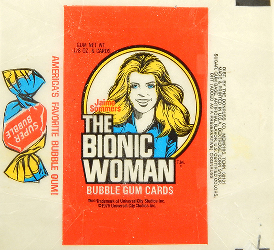 1976 Donruss Bionic Woman Trading Cards 2
